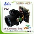 Sony imx322 módulos de câmera full hd 1080 p ip ptz com 2.8-12mm Lente de Zoom motorizado com RS485 wi-fi estendida + rede fio cauda
