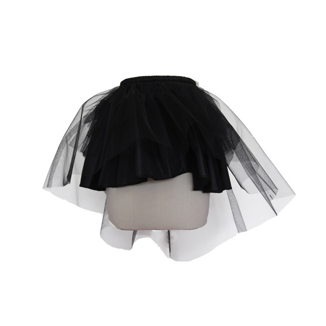 99981f7b5d38 Popularity Summer Steampunk Swallow tail lace Short Skirt Gothic Lolita  Women Slim Solid mini Underskirt For