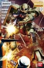 Bandai Gundam MG 1/100 MS 06F Zaku II Ver.2.0 mobil takım elbise monte Model kitleri aksiyon figürleri plastik Model oyuncaklar