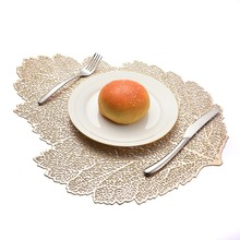Placemat For Dining Table Coasters Lotus Leaf Leaf Simulation Plant Pvc Cup Coffee Table Mats For Home Decorative Table Pad placemat dining table coasters simulation leaf plant pvc cup western food insulation pad table mats kitchen christmas home decor