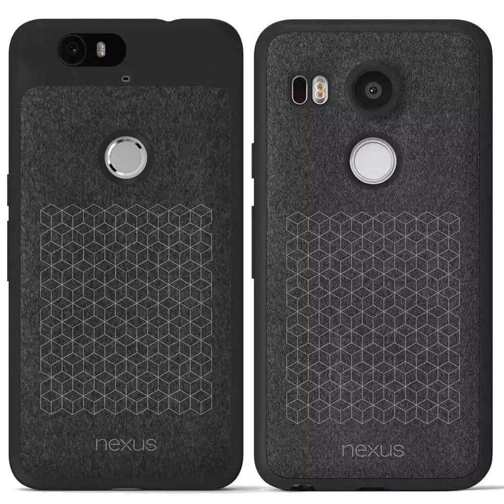 imágenes para Para lg nexus 5x6 p cuero original case tpu suave atrás cubierta para huawei google nexus5x 6 p flip case cubierta del teléfono de cuero Lemonlan