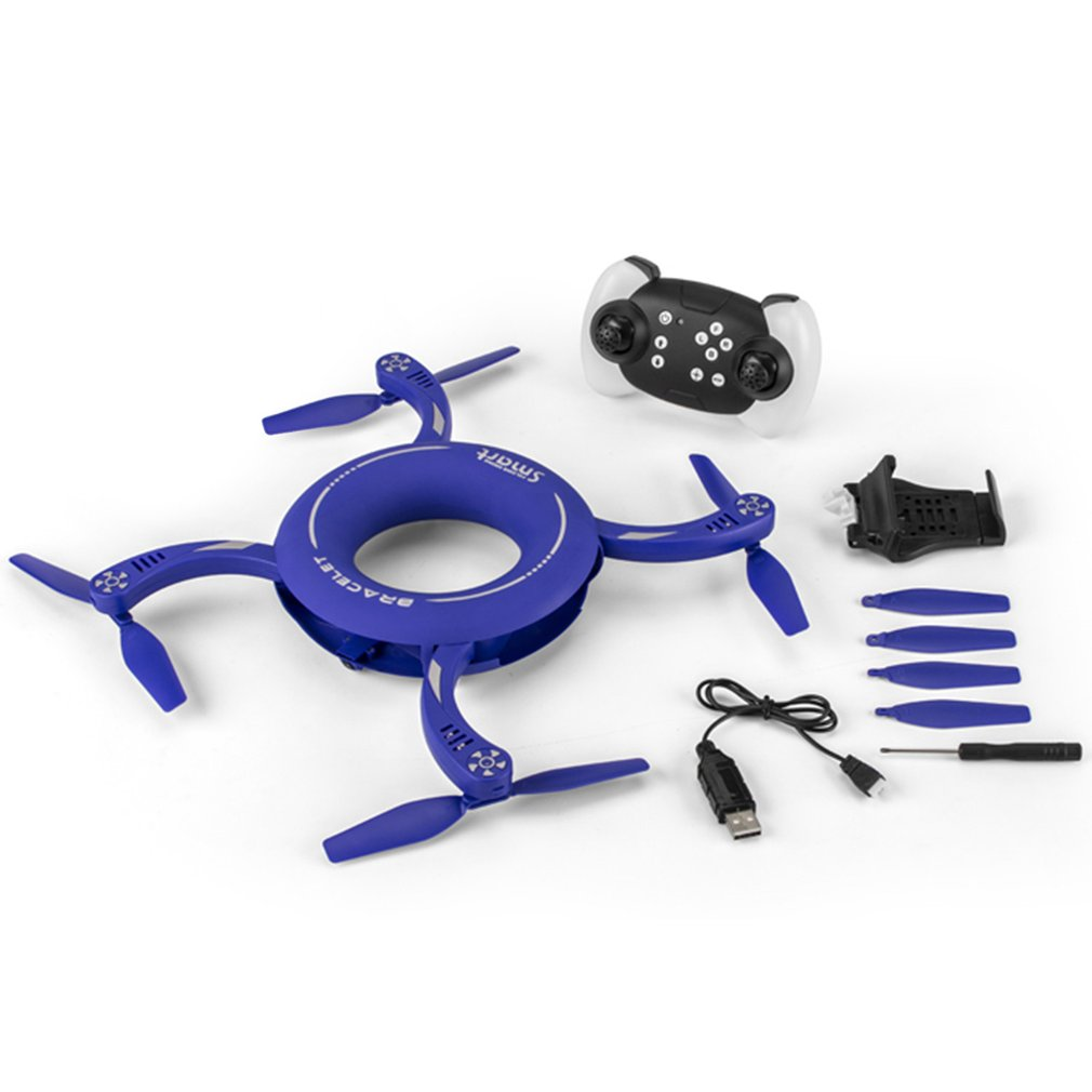 X48 1 Circle WIFI FPV 720p Camera RC Drone 2.4g Folding Rotate Dimension Maintenance Fixed Height Round RC Quadcopter Model Toy