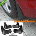 soft plastic fender Mudguard Flaps Splash Kit with side skirt for Mitsubishi Lancer EX 2008-2013 4pcs/set