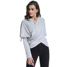 Casual Cardigan Long Sleeve Cowl Neck Tunic Tops Water Fall Open Front Bottoming Sweater Dual Use Clothing