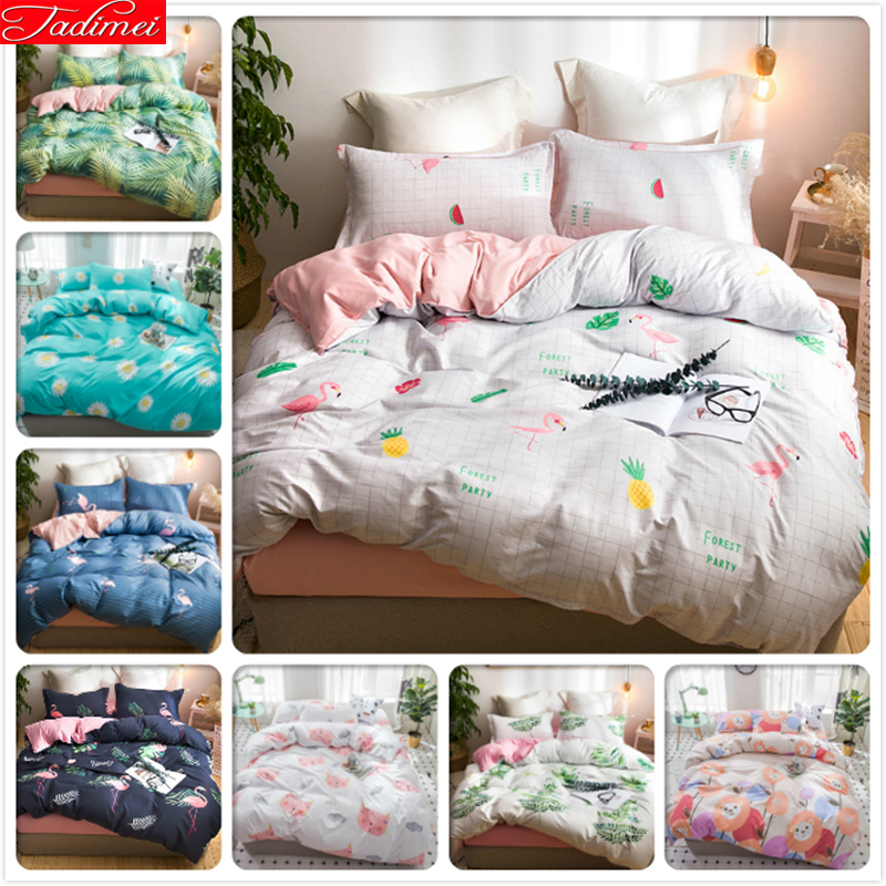 Soft Comfortable Duvet Cover 3/4 Pcs Bedding Set Bedspreads Adult Kids Child Bed Linens Single Full Double Queen King Size Sheet