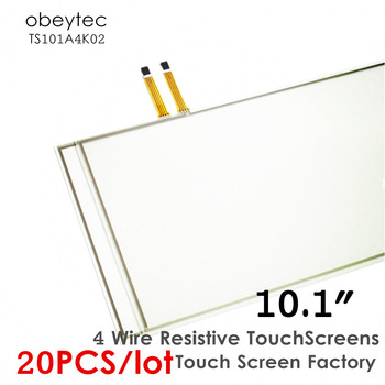 "20PCS! Obeytec 10.1"" 16:10 Four-Wire touchscreens sensor, Resistive Touch Factory, Glass sensor only, AA236*141.5 mm, TS101A4K02"