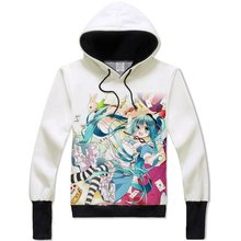 Hatsune Miku Hoodie Vocaloid Costume Clothes Hooded Sweatshirt Adult Teens