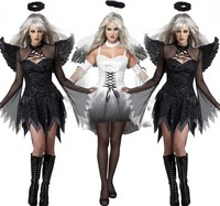 FREE PP 2017 New Fantasia Halloween Costumes For Women Fantasy Cosplay Party Fancy Dress Adult Fallen