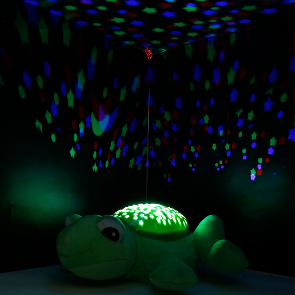 Children Animal Projection Lamp Plush Toys Dreamy Starry Star Light Dolls Toys Projector With Music for Baby Infant Sleep