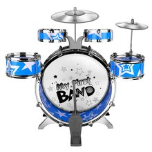 Children Kids Educational Toy Percussion Instrument Playing Drum Set Kit Simulation Jazz Drum Kit with 6 Drums