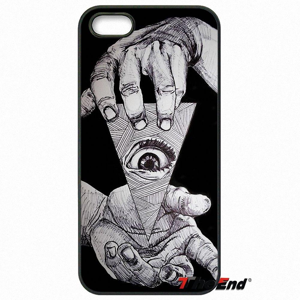 Symbol Eye Pyramid Phone Case For HTC One M7 M8 M9 A9 Desire 626 816 820 830 Google Pixel XL One Plus X 2 3