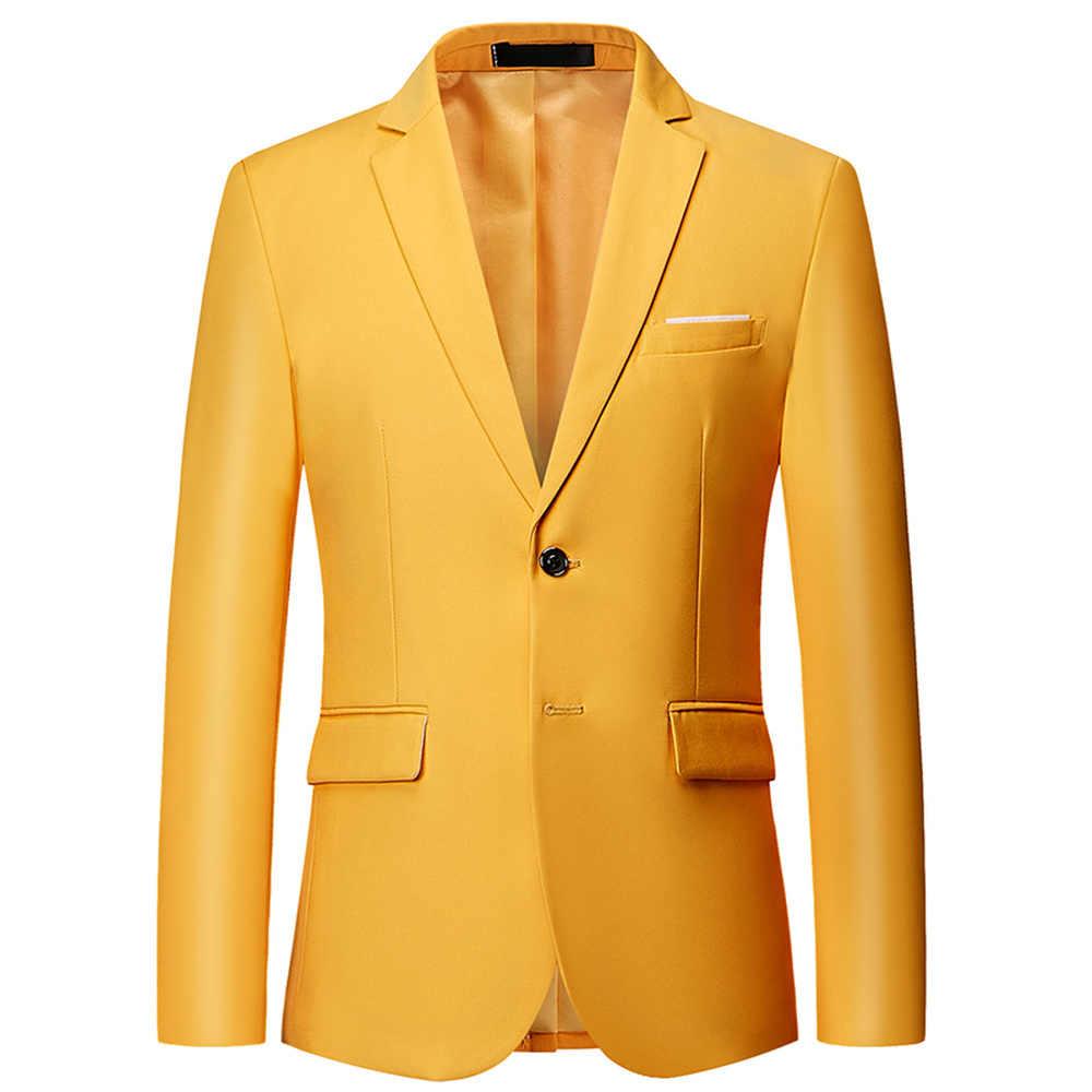 2018 純粋な色メンズスーツジャケットマルチカラーの選択ファッションビジネス結婚式の宴会の男性ドレスコートスリムでエレガントなプラスサイズ 6XL