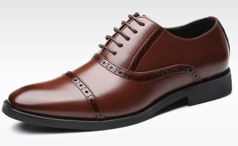 Модная мужская официальная обувь высокое качество дышащая кожа PU личности Для мужчин платье в деловом стиле Лоферы свадебные туфли оксфорды