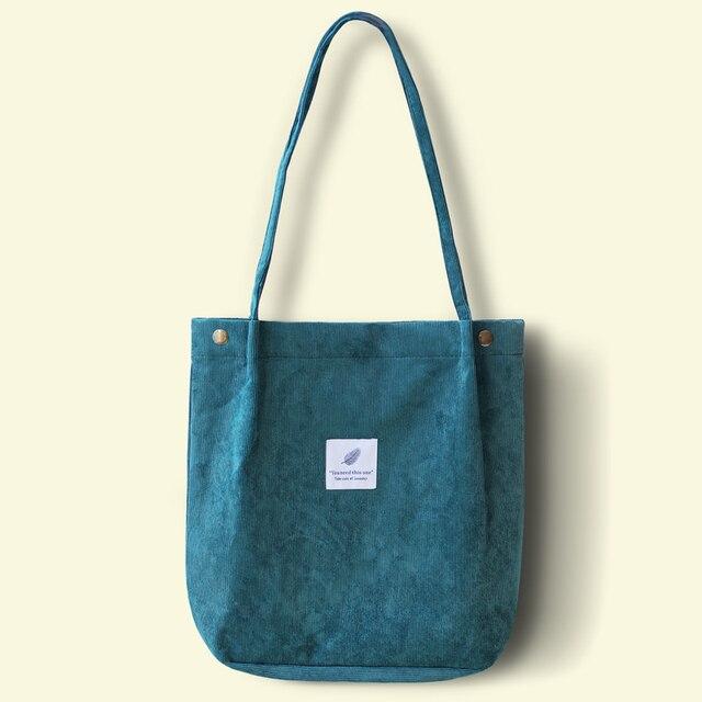 Casual Shoulder Bag Foldable Reusable Cotton Cloth Handbag