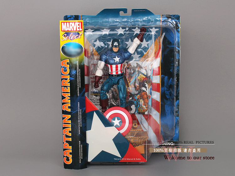 "Free shipping <font><b>MARVEL</b></font> <font><b>Select</b></font> Superhero The Avengers <font><b>Captain</b></font> <font><b>America</b></font> PVC <font><b>Action</b></font> <font><b>Figures</b></font> Collection Toy Gift 10""25cm HRFG022"