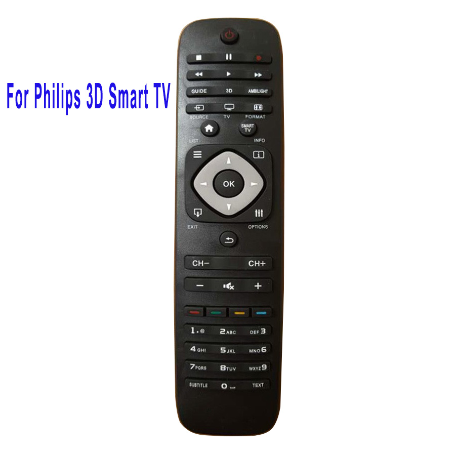 New Replacement Remote Control For Philips 3D Smart TV Remote Control RM-L1128 Fernbedienung Free Shipping used original for philips home system remote control rc2683701 02 313923819902 fernbedienung free shipping