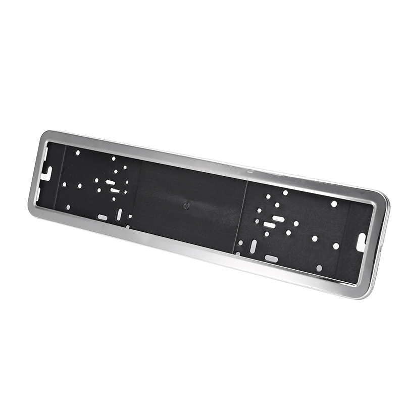 Stainless Steel Car License Plate Frame Holder Cover Russian European/German Sliver/Black With 4 Screws Exterior Accessories