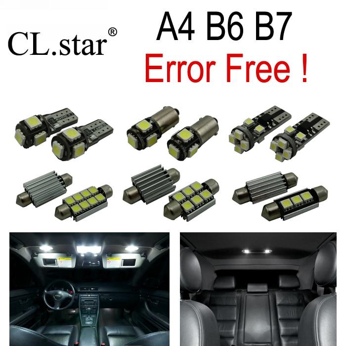 18pc X Canbus LED lamp interior light Kit Package for Audi A4 S4 B6 B7 Quattro Sedan Avant  (2002-2008) 2pcs 12v 31mm 36mm 39mm 41mm canbus led auto festoon light error free interior doom lamp car styling for volvo bmw audi benz