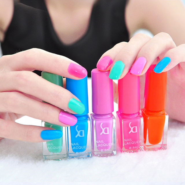 5 Bottles New Fashion Gel Nail Polish Nail Polish Set For Women ...