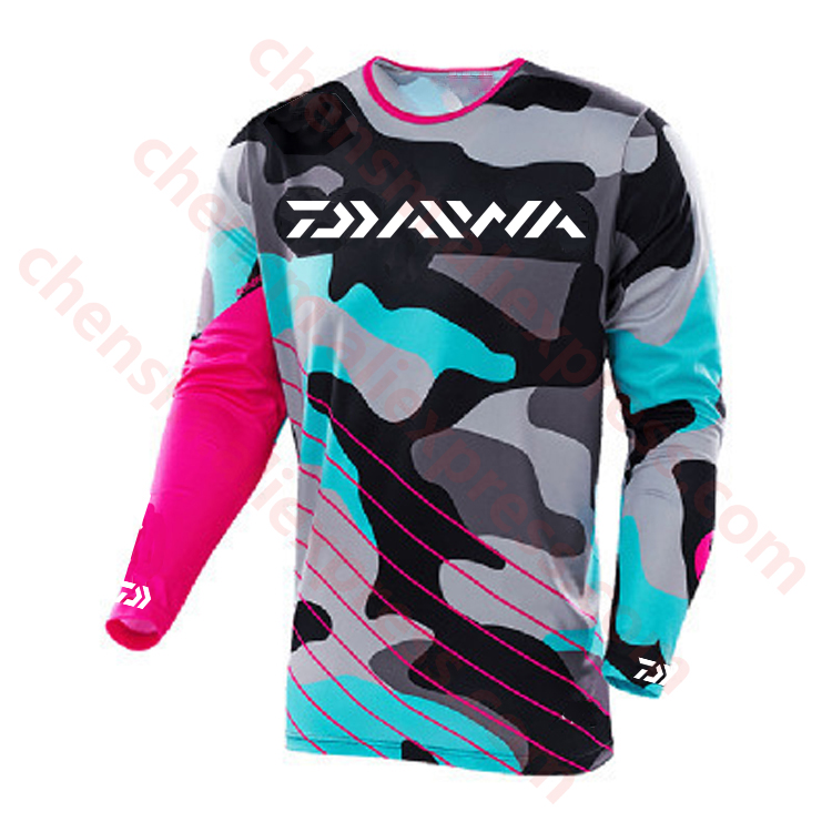 2019 DAIWA Summer Men Long Sleeve Fishing Clothing Ultrathin Sunscreen Anti-uv Breathable Coat Fishing Shirt Size XS-5XL Jacket