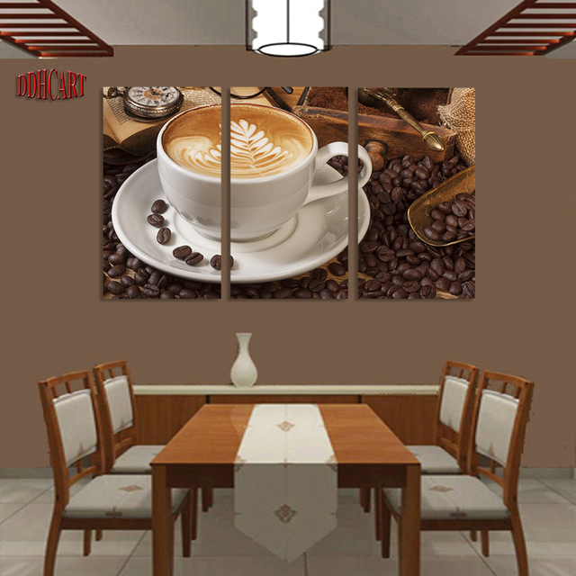 Aliexpress  Buy 3 Piece Frame Coffee Picture Painting Wall - living room canvas art
