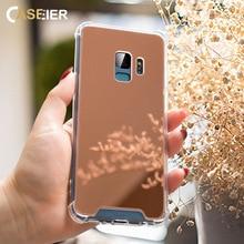 CASEIER Mirro Protective Film Back Cover Case For Samsung S8 S9 S10 E Plus Note 8 9 Mirror Case For Samsung Galaxy S10 E Funda
