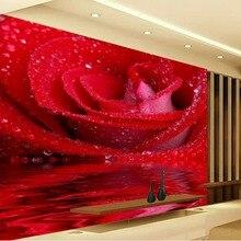 3d mural paintings Modern style red rose wallpaper