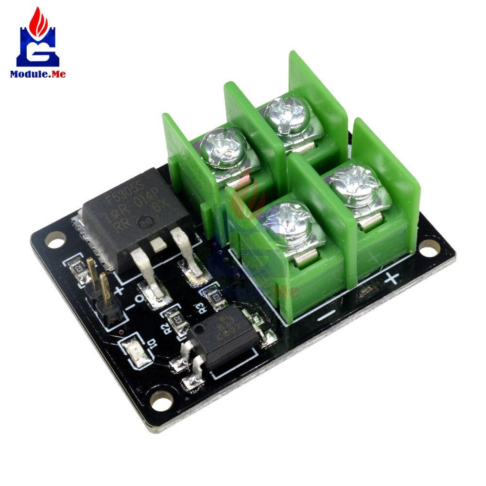 2Pcs Mosfet Switch Module 3V 5V Low Control High Voltage 12V 24V 36V For Ardui u