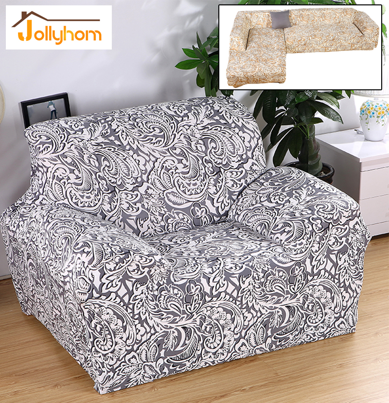 Stretch chaise sofa cover big elasticity flexible couch for Chaise design coloree