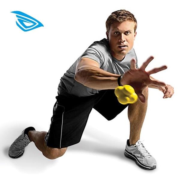 Reaction Training Ball Basketball Pyramid Random Bounce Sports Fast Speed Agility Coordination Exercise Baseball Fitness Workout
