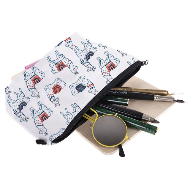 Llama-Too-Many-Llamas Cosmetic Bag