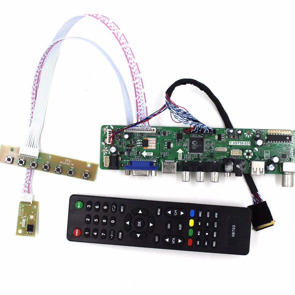 "TV PC HDMI CVBS RF USB LCD Controller Board for LQ164D1LD4A 1600*900 panel 16.4/"""