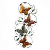Metal art mural styl malowane specjalne symulacji retro butterfly Wyposażenia Domu kreatywny salon dekoracje ścienne