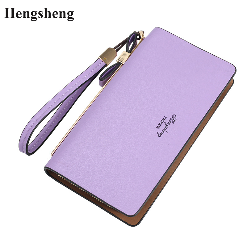 New Arrival Leather Women Wallets Zipper Long Purses Female Clutch Phone Wallets Money Bag Credit Cards Holder Famous Brand 2017 100% wax oil cowhide vintage wallets female money clips real leather clutch wallet for women credit cards change purses 2014 new