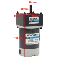 4D60GN C,, 12V24V DC Motor,, 60W Slow Motor,, Low Speed, Variable Speed, High Torque Motor,, CW/CCW