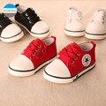 2017 Nuevo 1-3 años de edad los niños zapatos casuales muchachas de los bebés zapatos de lona de los niños zapatillas primeros caminante infantil prewalker