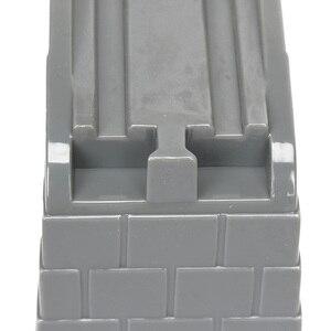 Image 5 - Plástico Cinza Hetero Slot Túnel Acessórios Trem Trilha Trilho De Trem De Madeira Pista De Trem De Madeira Brinquedos bloques de construccion