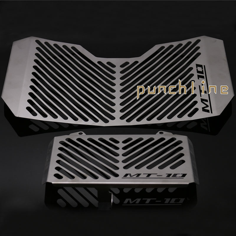 For YAMAHA MT-10 MT10 MT 10 2016-2017 Motorcycle Accessories Radiator Grille Guard Cover & Oil Cooler Guard Cover for yamaha xjr 1300 xjr1300 1998 2008 99 00 01 02 03 04 05 06 07 motorcycle oil cooler protector grille guard cover