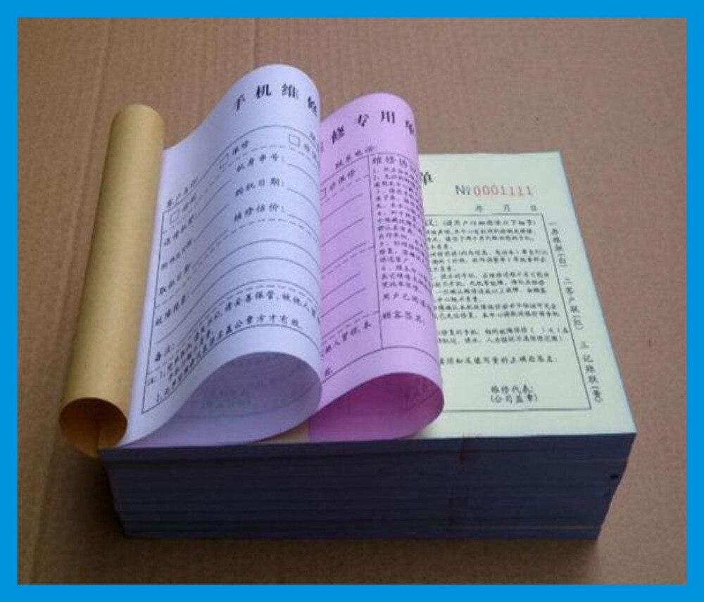 Impression de papier autocopiant 3 plisImpression de papier autocopiant 3 plis