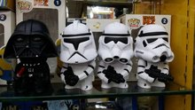 Q version of Star Wars action figure a total of 4 white pawns black knight clone army About 16 cm Star Wars Piggy bank