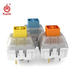 Image 5 - Kailh لوحة المفاتيح الميكانيكية صندوق ثقيل أصفر داكن/أزرق/برتقالي التبديل ، مفاتيح مقاوم للماء والغبار ، 80 مليون دورة الحياة