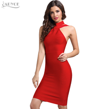 New Bandage Dress 2018 Celebrity Evening Party Dress Vestidos Sexy Off The Shoulder Halter White khaki black Club Women Dresses