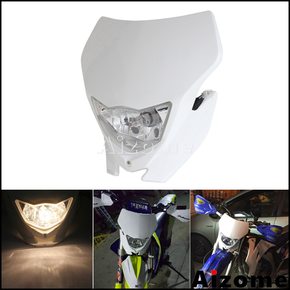 Motorcycle Off Road H4 Headlight For Yamaha Honda WR 450 <font><b>250</b></font> YZ TTR <font><b>Enduro</b></font> Supermoto Dirt Bike Motocross Headlight Fairing image