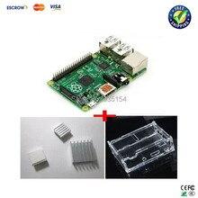 3 IN 1 Rev 3.0 512 RAM Raspberry Pi Model B+ Project Board + 3 heat sinks + 1 board case