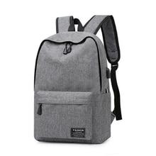 bagpack Simple Canvas Backpack Male/Female School Laptop for Teenagers Travel Bagpack Stachels Rucksack Mochila
