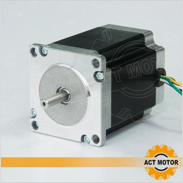 ACT Motor 1PC Nema23 Stepper Motor 23HS8630 Single Shaft 6-Lead 270oz-in 76mm 3A CE ISO ROHS US UK CA DE FR IT JP BE SP Free act motor 4pcs nema34 stepper motor 34hs9820 890oz in 98mm 2a 8 lead single shaft ce iso rohs plastic us ca de uk it fr jp free
