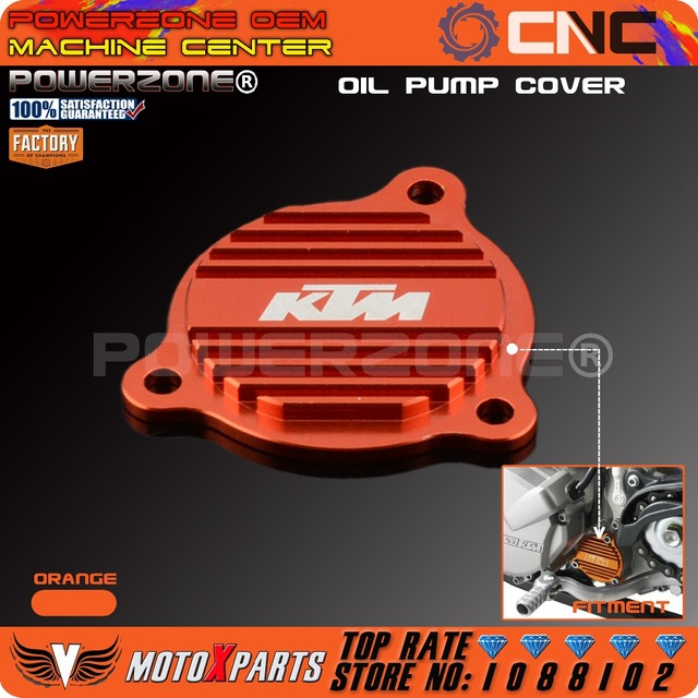 Billet Oil Pump Cover SXS07450265 For KTM 250 350 450 400 500 530 SXF XCF XCFW XCW EXCF SMR FREERIDE  Free Shipping