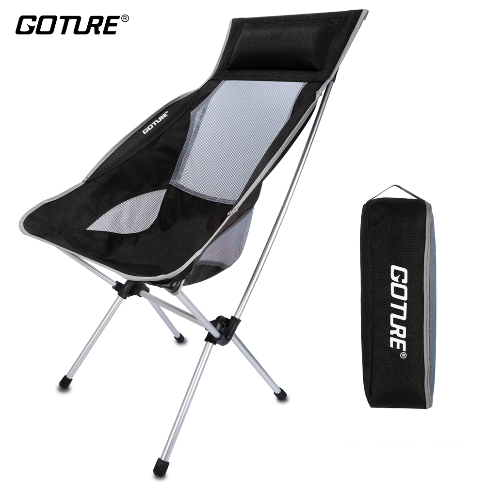 Goture Outdoor Folding Chairs Max Load 150kg Portable Lightweight Chair Fishing Seat with Backpack Bag For Camping Picnic Beach 2018 new folding fishing chair portable fishing box light multi purpose backpack beach chairs with retractable feet