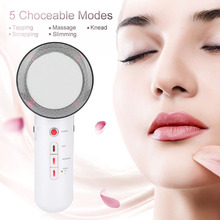 3 In 1 Ultra Slim Ultrasonic Fat Cellulite Remover Slimming Massager Beauty Tool MH88