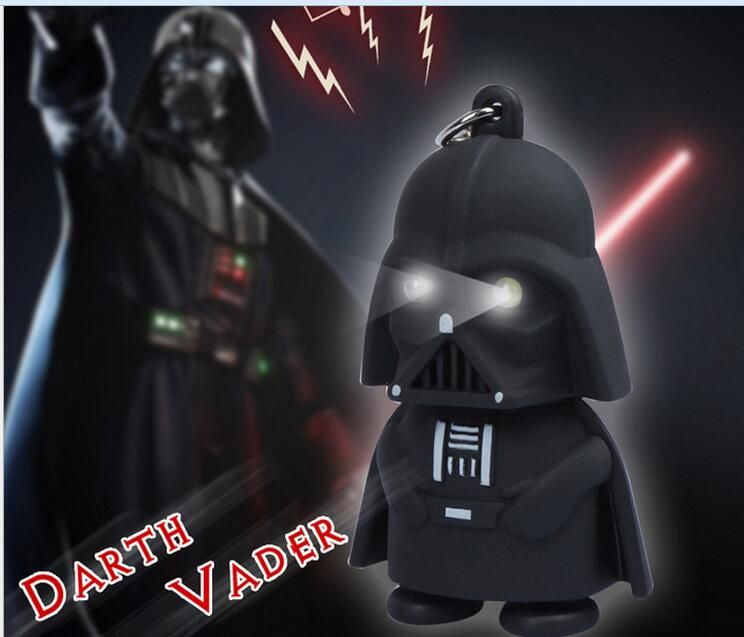 2016 new LED Light With Sound Star Wars Black Knight Darth Vader Stormtrooper PVC Action Figures Toy Kids Toys Anakin Skywalker стоимость